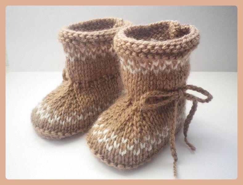 Chaussons   Bottes bébé laine lien à nouer 0 3 6 mois   Mode Bébé ... a830b0bbc854