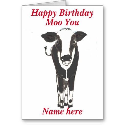 Funny cow birthday card add name change any text cards funny cow birthday card add name change any text bookmarktalkfo Images