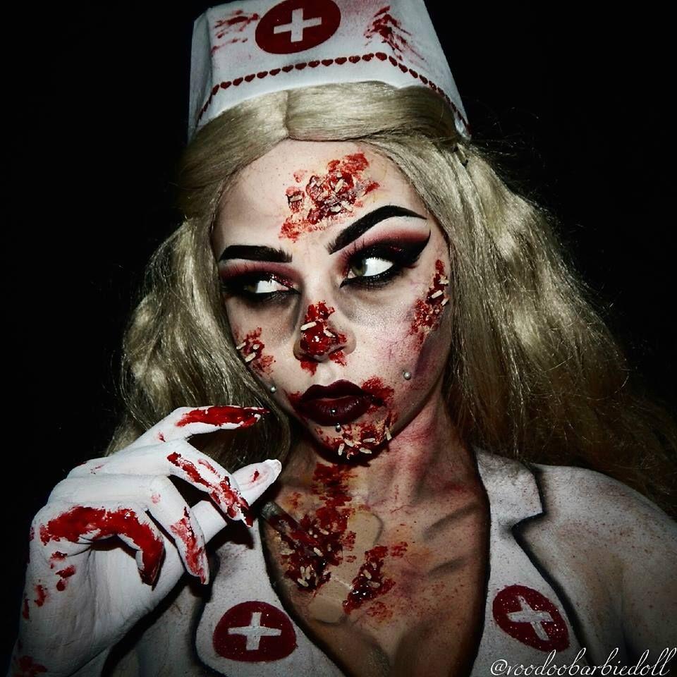 121abc3ba5549 Zombie Nurse | www.youtube.com/c/SydneyNicoleTheCatsMeow IG  @voodoobarbiedoll | Zombie, zombie makeup, Silent Hill Nurse, Maggots, SFX,  SFX Makeup, ...