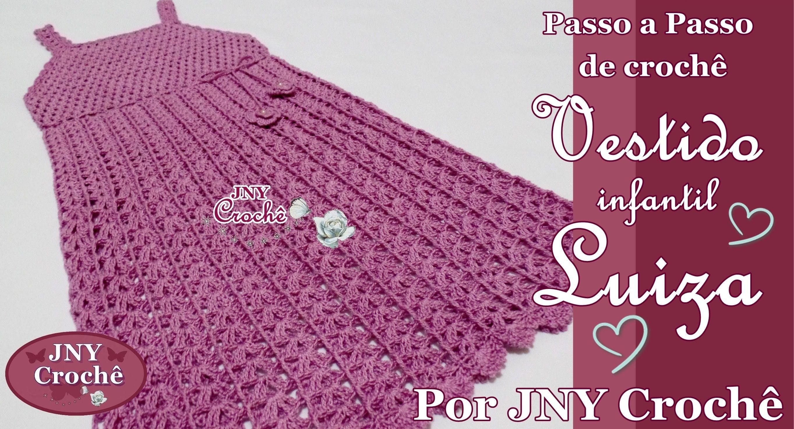 Pap De Crochê Vestido Infantil Luiza 6 A 8 Anos Por Jny