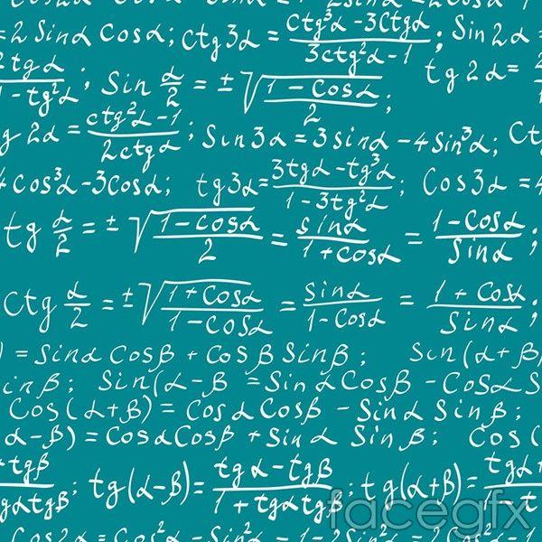 mathematics math background vector | free vectors | pinterest, Powerpoint templates