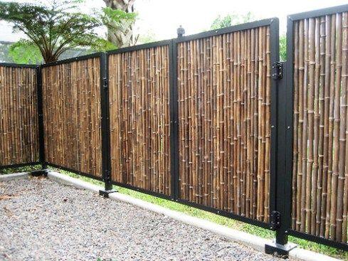 Cercas de Bambú para Casas y Jardines gradeamento e cercas Pinterest - cercas para jardin