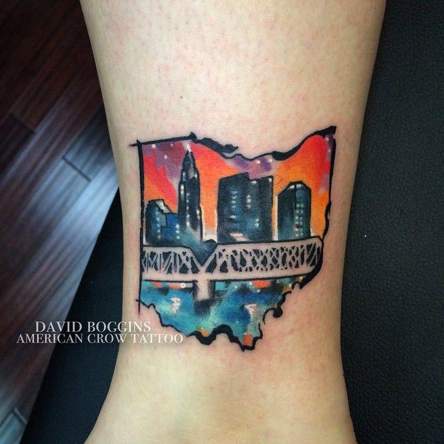 Watercolor Ohio Columbus tattoo | Tattoos & Piercings! | Tattoos ...
