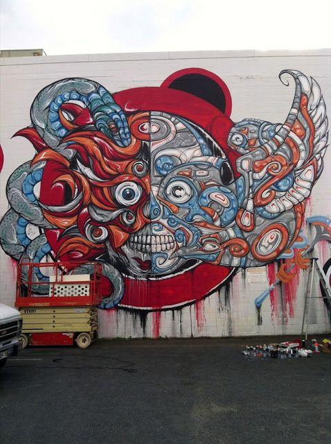 :D awesome mural in Honolulu, Hawaii