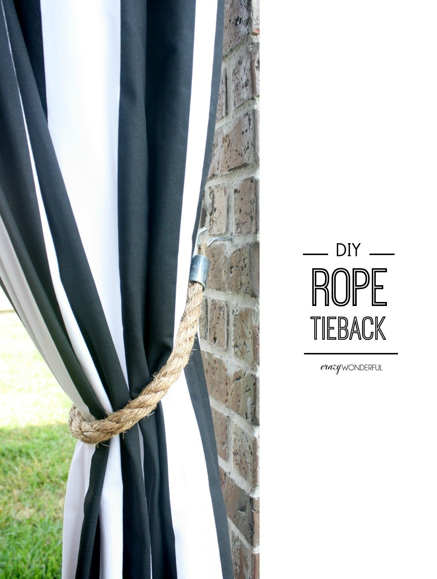 Diy Rope Tiebacks Diy Curtains Outdoor Curtains For Patio