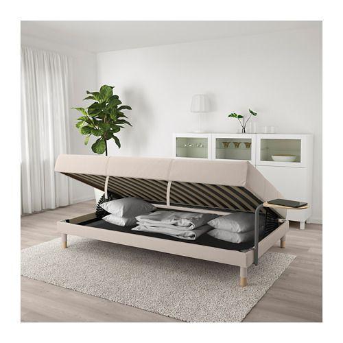 Flottebo sof cama mesa auxiliar lysed gris oscuro - Mesa auxiliar sofa ikea ...