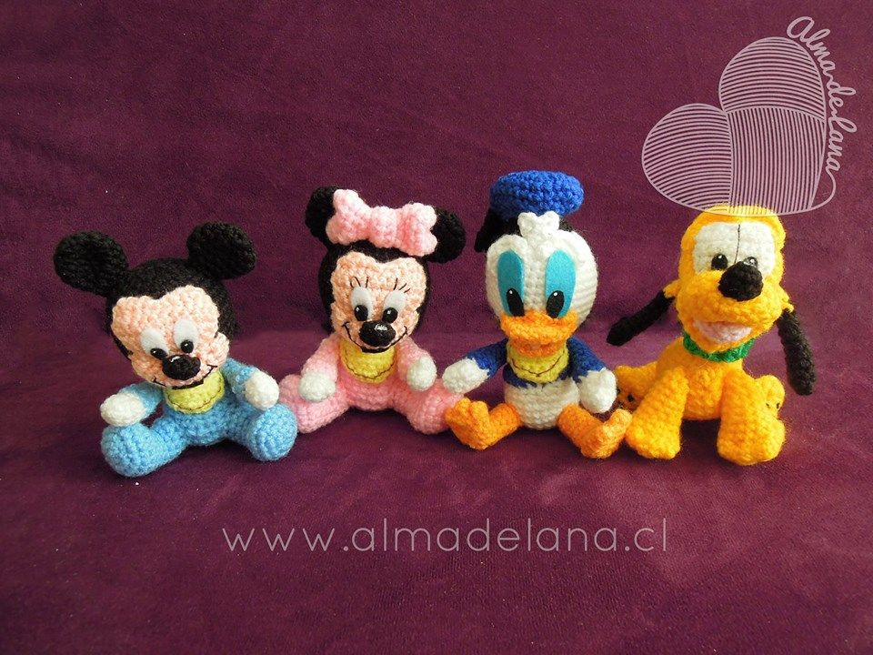 Amigurumis Personajes De Disney : Personajes disney pequeñitos bebe cada personaje mide entre y