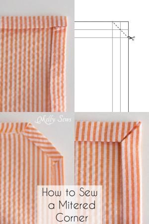 How to sew a mitered corner - Melly Sews by lea