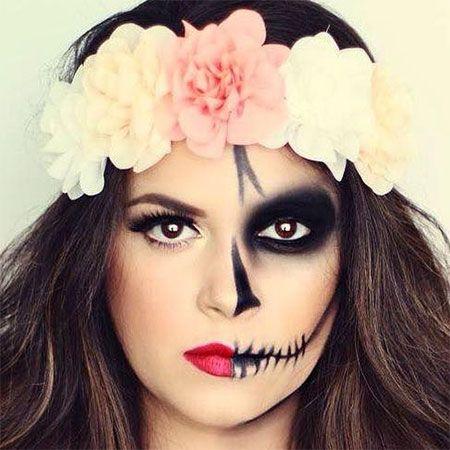 pretty sugar skull makeup half face mugeek vidalondon