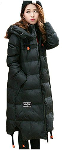 0f3748c74 Orolay Women's Winter Thickened Down Jacket Hooded Coat Black ...
