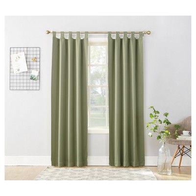 Kenneth Blackout Tab Top Curtain Panel Sage 40 X63 Sun Zero