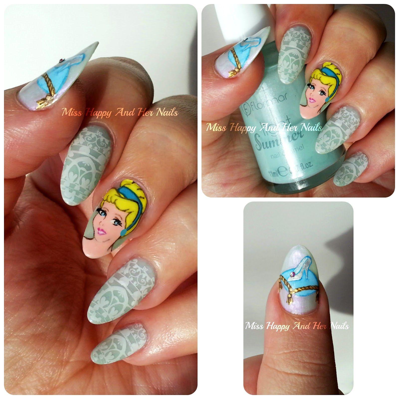 Cinderella nail art #nailart #Disney #Cinderella   Nail stamp ...