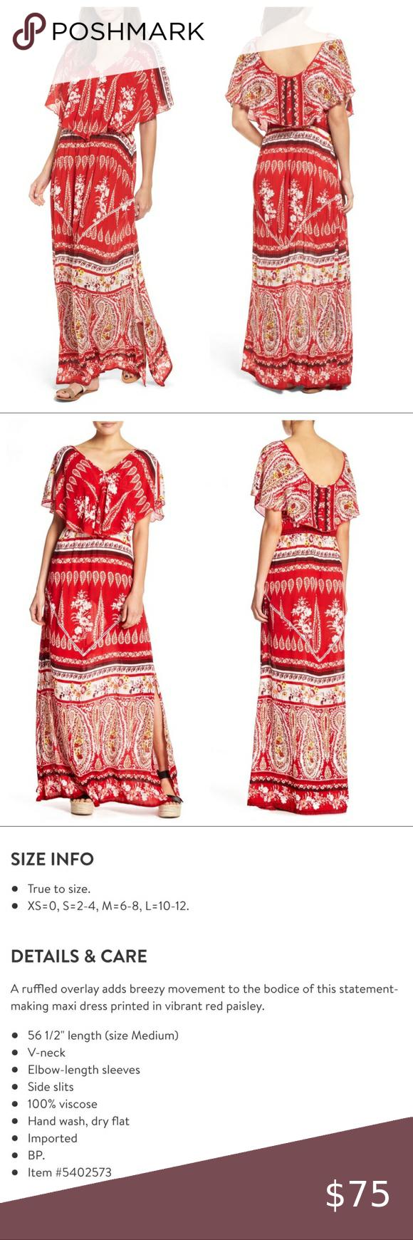 Nwt Raga Luisa Red Paisley Boho Viscose Maxi Dress New With Tags Retail 120 00 Gauzy Stretchy Material Viscose Maxi Dress Maxi Dress Cotton Maxi Dress Blue [ 1740 x 580 Pixel ]
