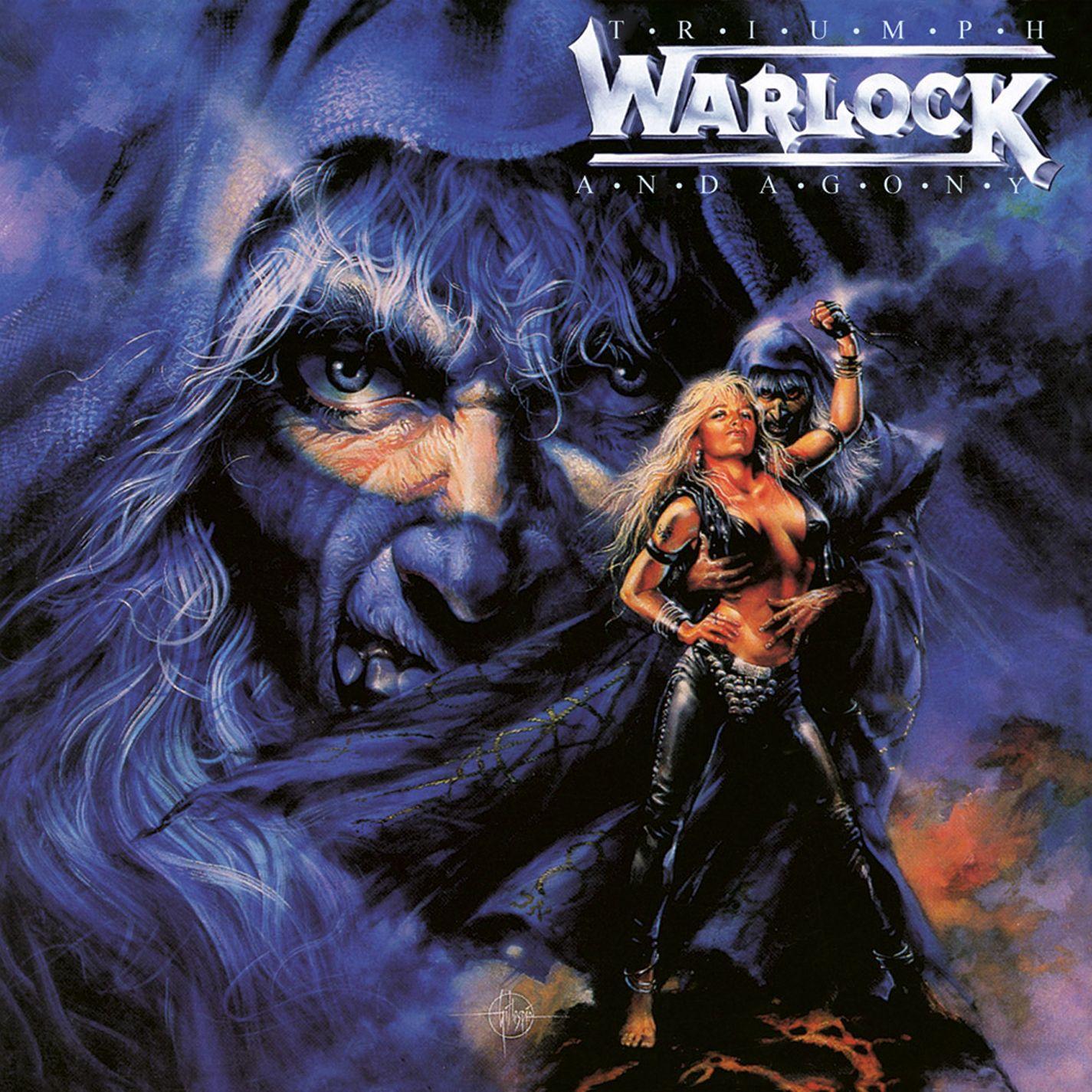 warlock triumph and agony heavy metal album covers