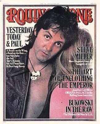 1976 Rolling Stone cover ‪#‎wings‬