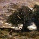 """Corot, Jean-Baptiste Camille – """"Colpo di vento"""" – """"Le Coup De Vent"""" (1866)"""