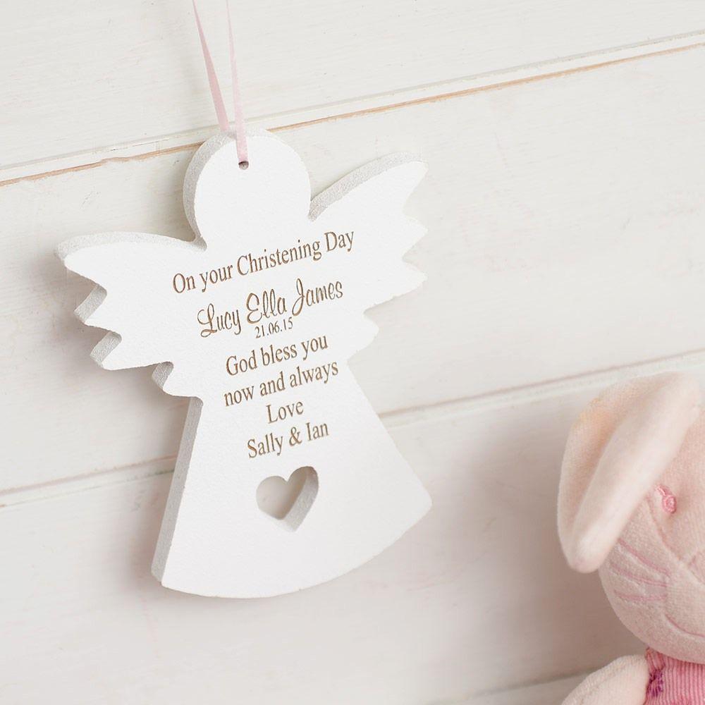 Baptism Ornaments Christening Christmas Ornaments: Guardian Angel Hanging Decoration