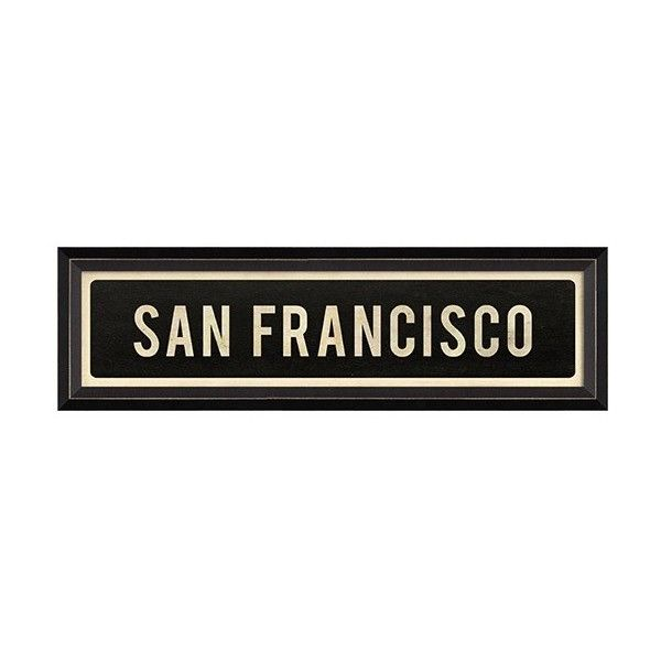 San Francisco Black Framed Art ($102) ❤ liked on Polyvore featuring home, home decor, wall art, inspirational home decor, inspirational wall art, black framed wall art, san francisco wall art and framed wall art