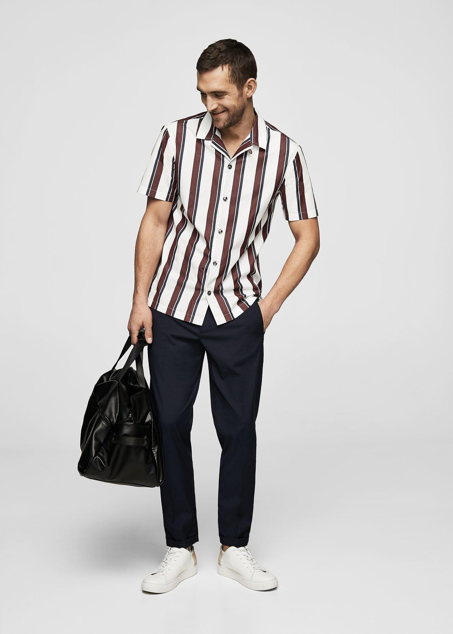 abcb14bf6 Camisa regular fit algodón rayas - Camisas de Hombre en 2019 | My ...