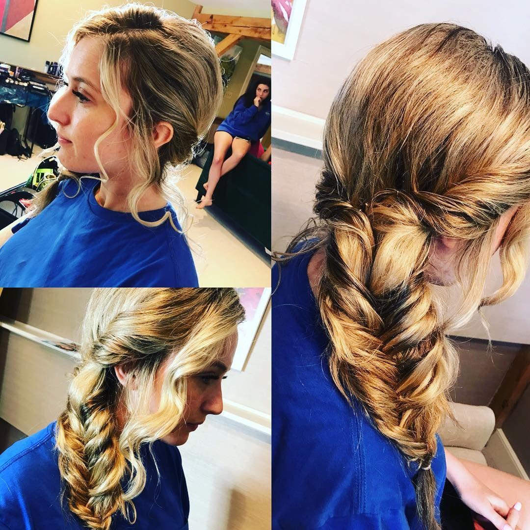 Super cool bridesmaid hair fishtail fishtailbraid bridesmaidhair