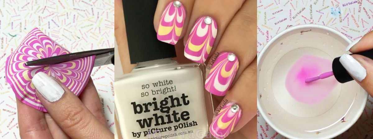 Nail Art Tutorial Water Marble Decals Tips Of The Fingers