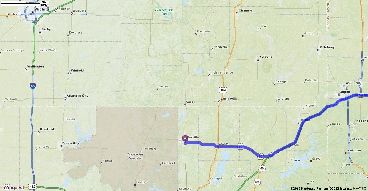 Directions to bartlesville oklahoma