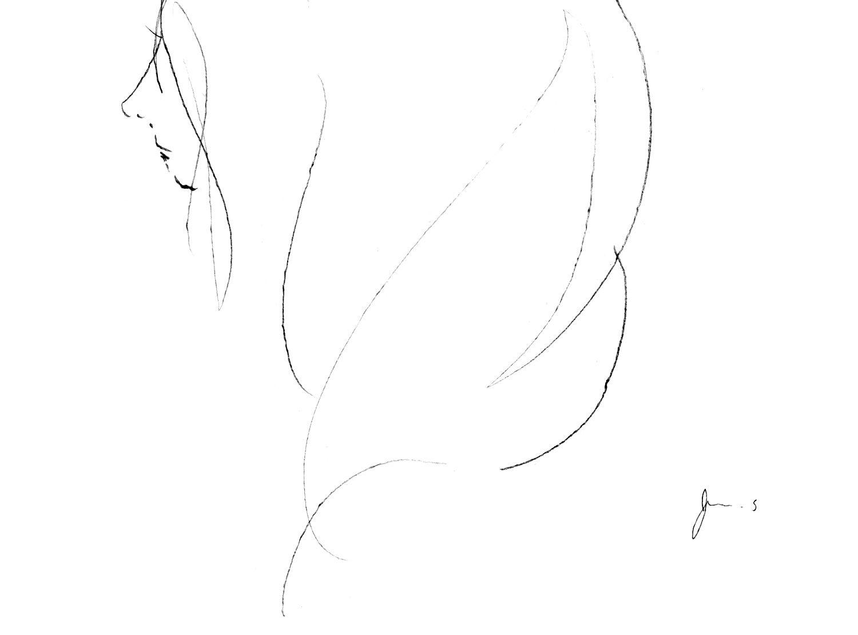 girl 「海を聴く(ラフ)」 えんぴつ #イラスト #女の子 #女性 #アート