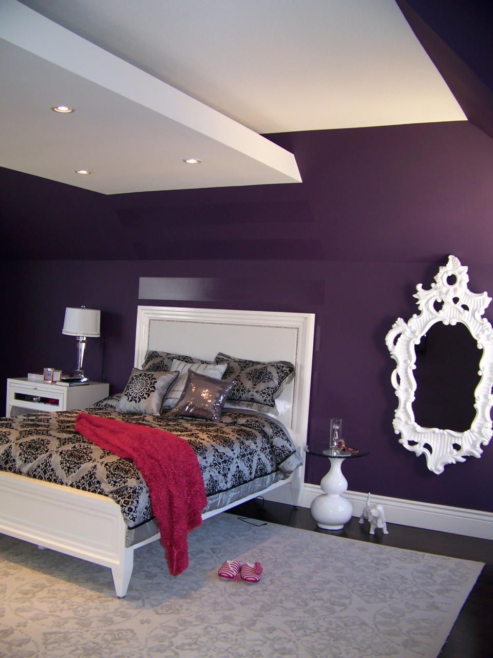 Contemporary Eclectic Bedroom Design Photo By Nina Sobinina Al Deep Purple For A Ager S