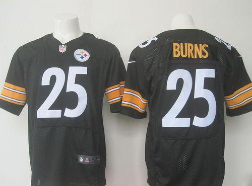Pittsburgh Steelers #25 Artie Burns Black Elite Jersey ...