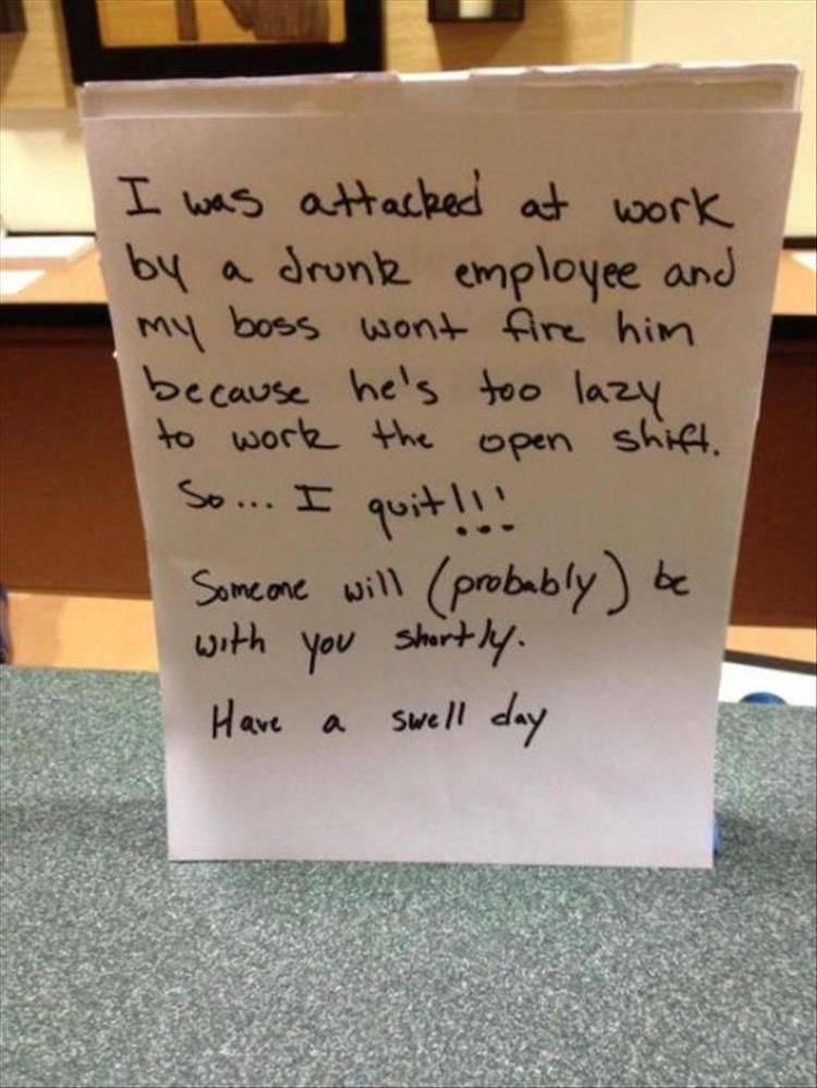 how to quit a job you just started letter