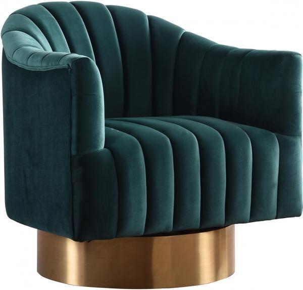 Best Farrah Velvet Chair Meridian Furniture Swivel Barrel 640 x 480