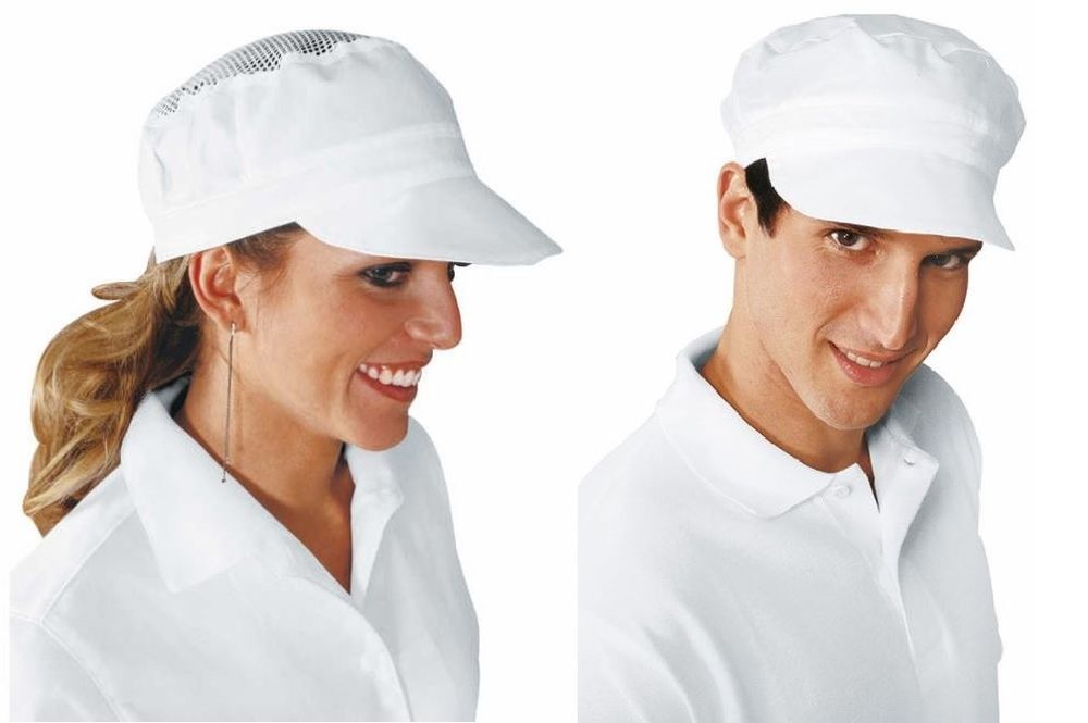 Cappello bianco isacco charly unisex alimentare cucina pizzaiolo hat cook 7a61801e9b42