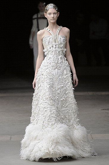 """Sarah Burton's Fall 2011 Alexander McQueen collection inspired by """"The Ice Queen and her Court"""".....so gorgeous"""