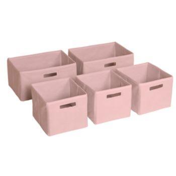 Guidecraft 5 Pk Pink Storage Bins Kohls Pink Storage Bins Toy Storage Bins Fabric Storage Bins