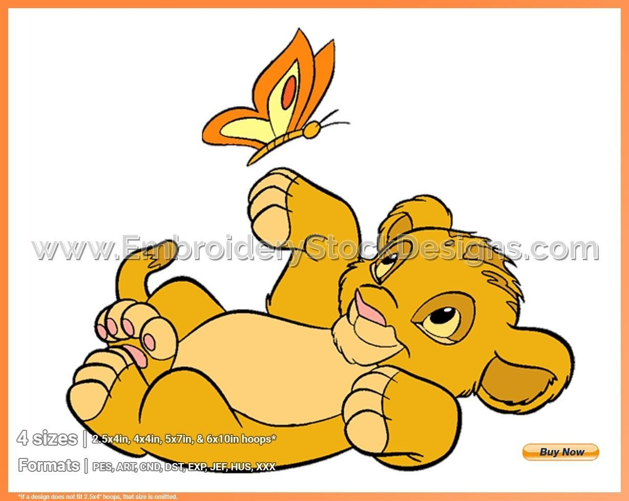 Baby Simba Butterfly 2 The Lion King Disney Movie Characters