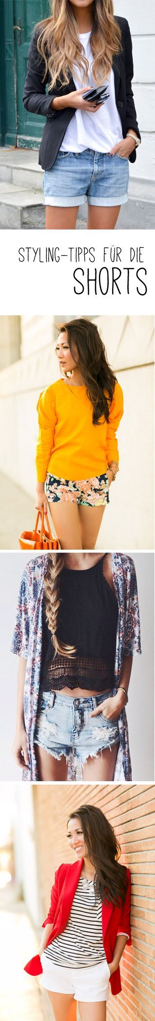 The hottest looks with shorts & which shorts fit which figure: www.gofeminin.de / … #fashion #shorts #stylingtips #outfits