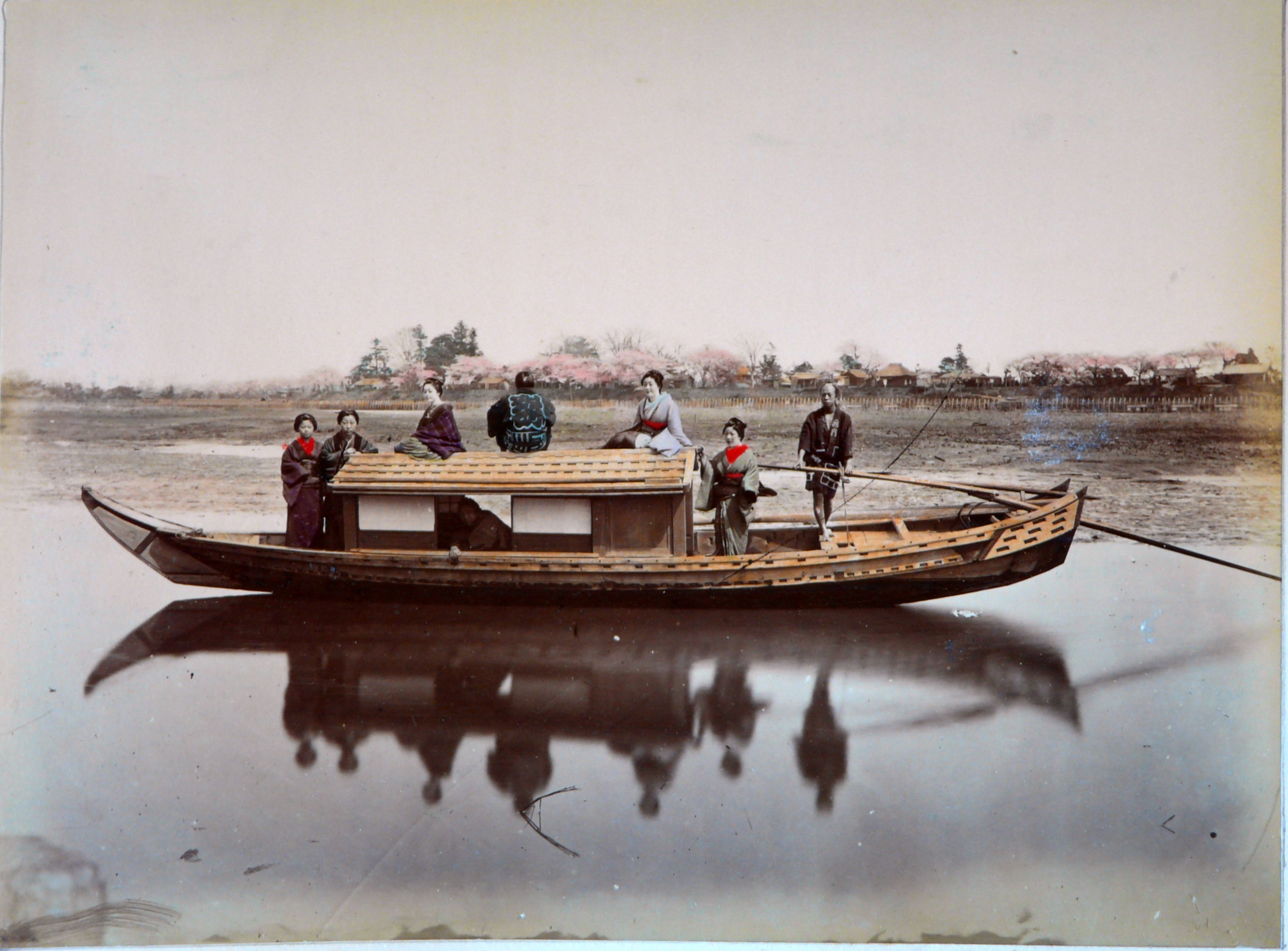 Japanese sampan and women pre 1886 for more resources for Japanese fishing boat