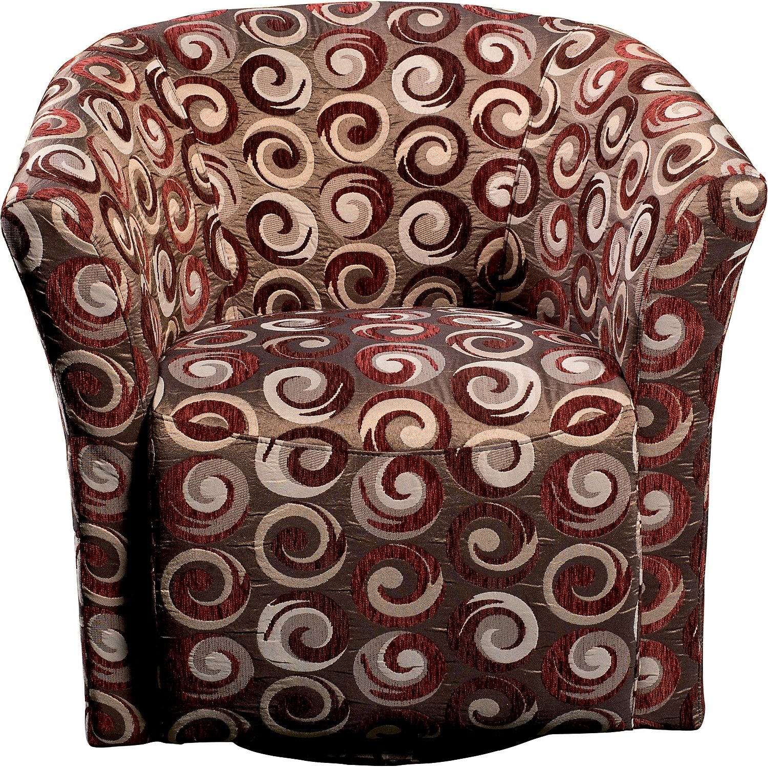 Wyatt Accent Fabric Swivel Tub Chair ChairLounge FurnitureLiving Room