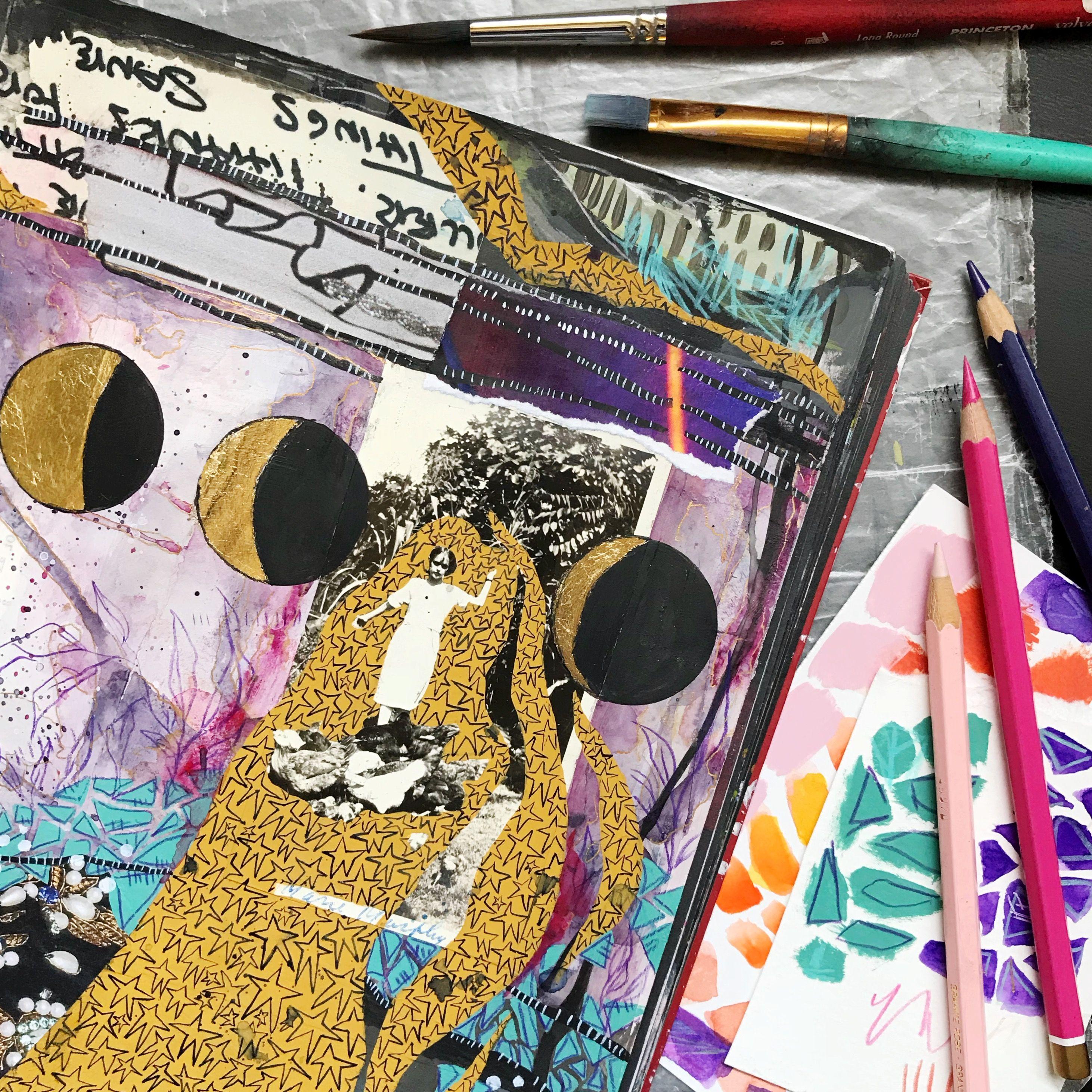 """""""Lunar"""" online art journal class with artist Roxanne Coble ..."""