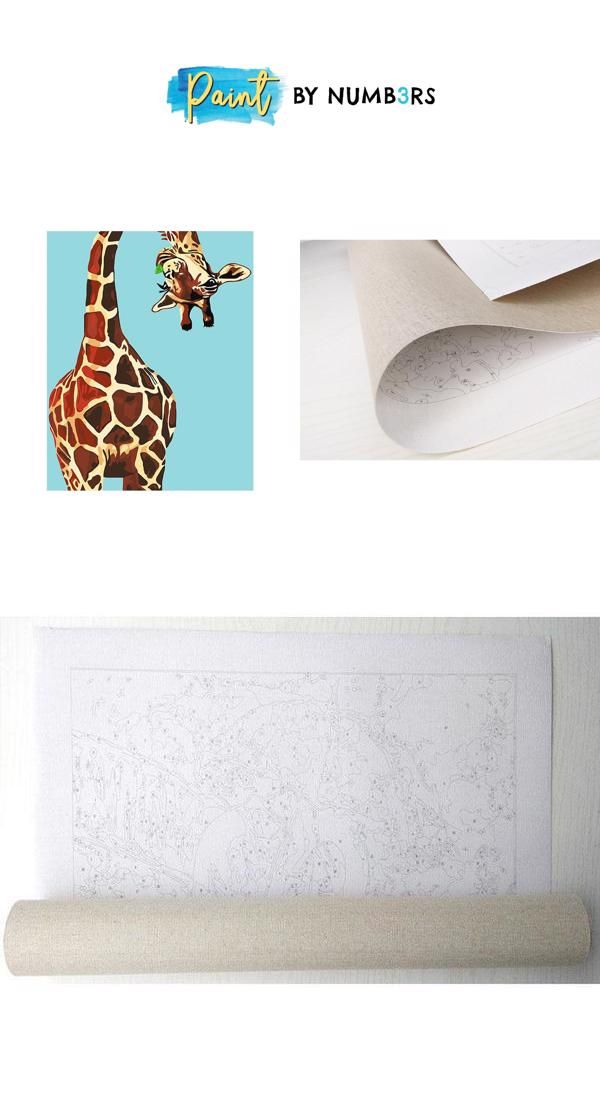 Playful Giraffe - DIY Painting By Numbers Kit - Paint By ...