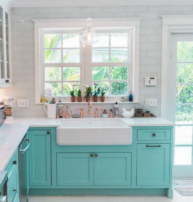Custom Kitchen With Turquoise Cabinets Home Bunch Interior Design Ideas Kitchen Design Blue Kitchen Cabinets Turquoise Kitchen Cabinets