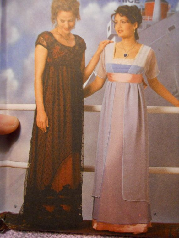 Rose\'s Titanic Dress. I had these patterns but I don\'t know how to ...
