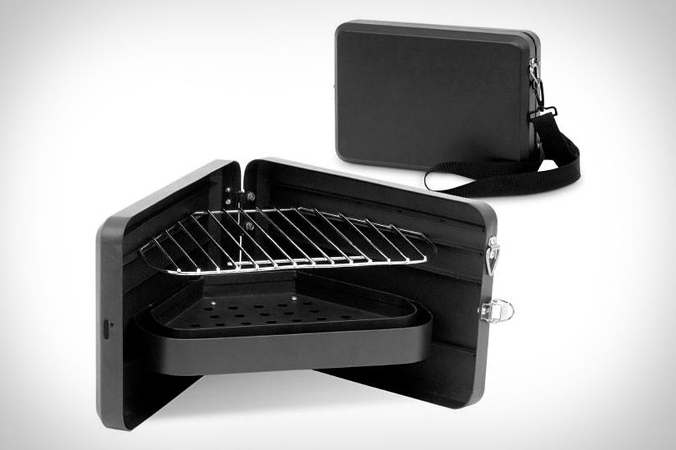 Picnic Time Portable Folding Charcoal BBQ Mini Grill with
