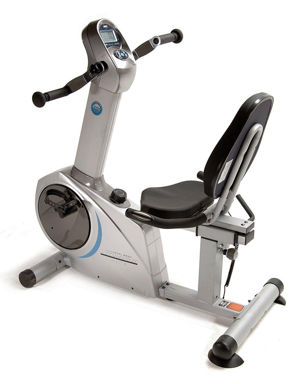 This Stamina Elite Total Body Recumbent Exercise Bike Has Hand