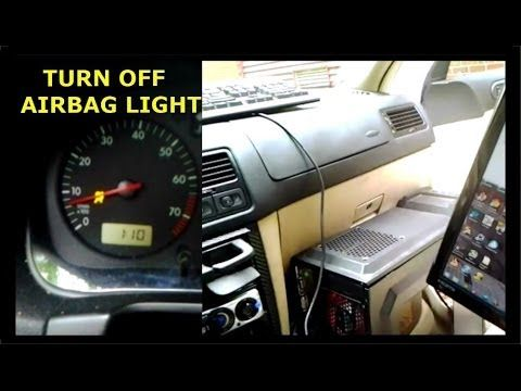 how to clear airbag light