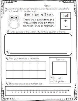 Solving word problems using multiple strategies, animal themed printables.