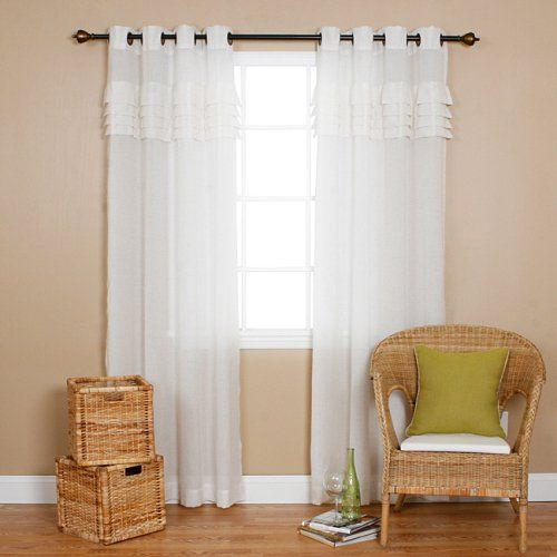 Outdoor Curtains Iyuego Grommet Top Pleated White Sheer Window Curtainsdpanelstreatment With Custom Multi