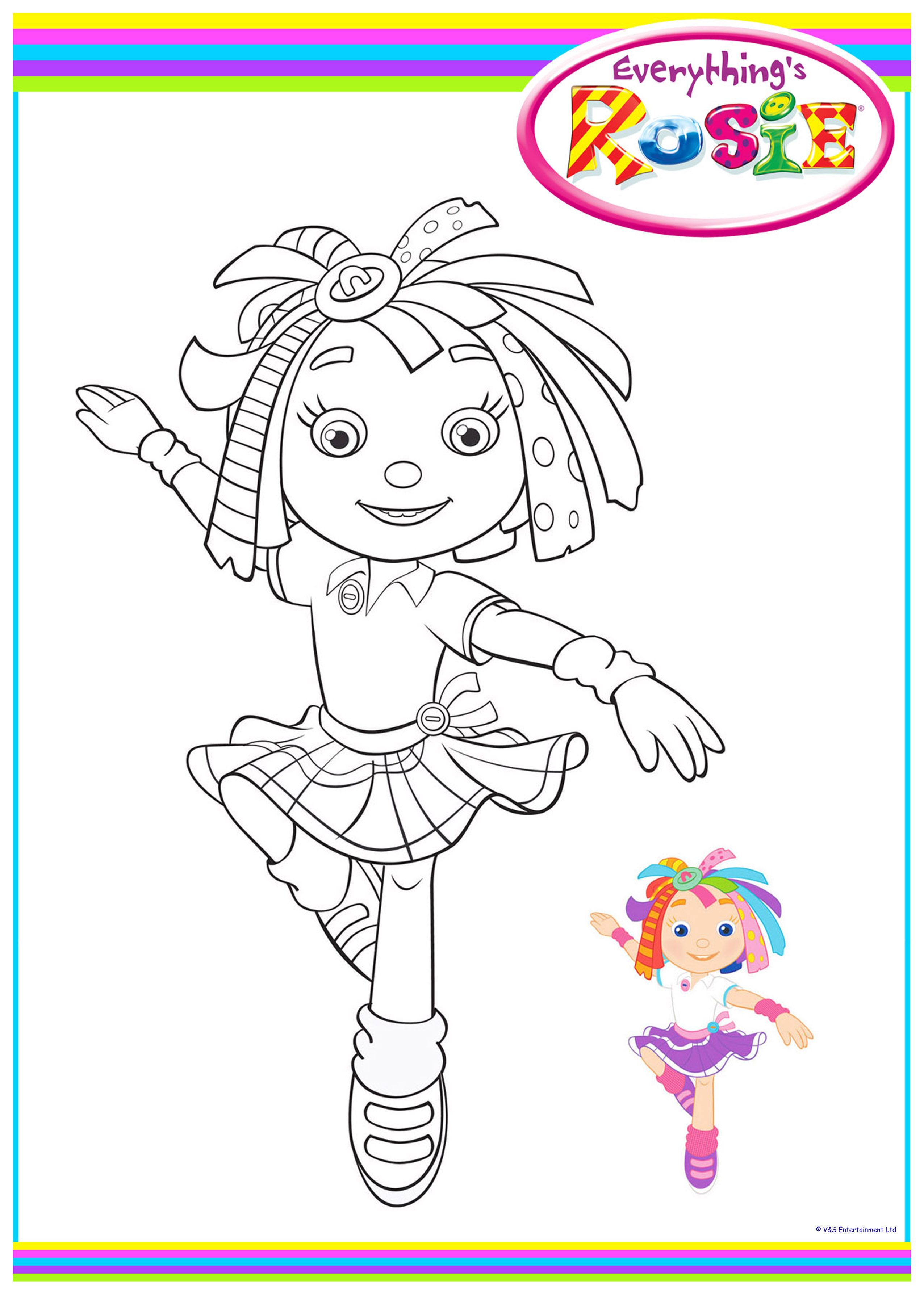 Rosie train coloring - Everything S Rosie Colouring Sheets 1