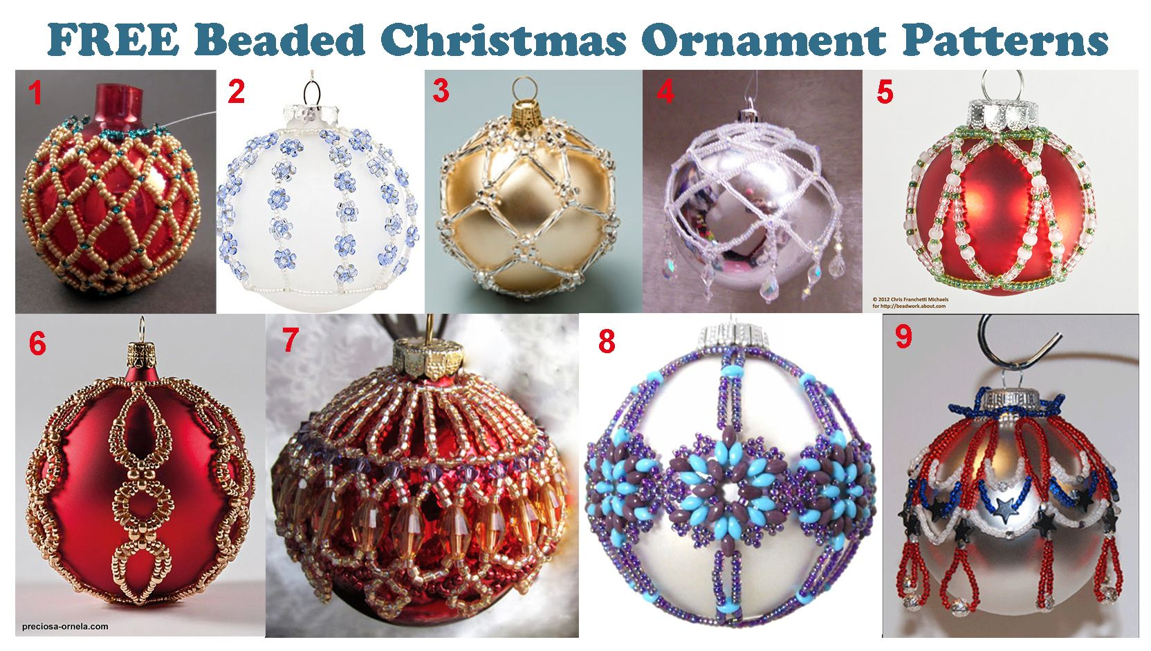 Pin By Charlene Cash On Free Bead Patterns Beaded Christmas Ornaments Beaded Christmas Decorations Christmas Bead