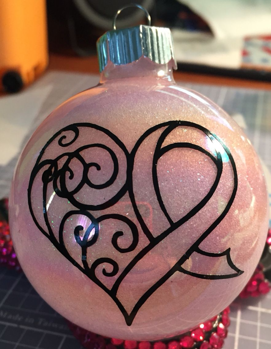 Breast cancer ornament - Breast Cancer Ornament